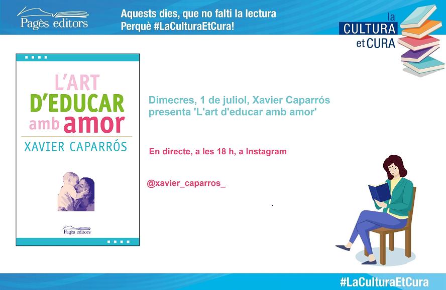 Xavier Caparrós a La CULTURA et CURA – Xerrada en directe a Facebook i Instagram Live
